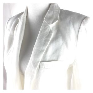 Joie Mehira Ivory Linen Blazer Fully Lined